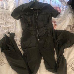 FashionNova Olive Green Jumpsuit